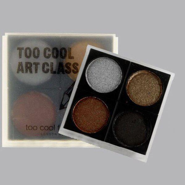 Cosmetic 4 Colours Earth Tone Smokey Eye Pearl Eyeshadow Palette -