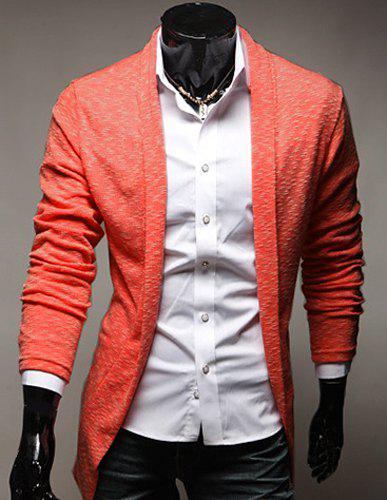 Casual Turn-Down Collar Slimming Long Sleeve Men's Cardigan