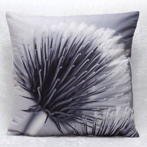 High Quality 3D Dandelion Pattern Square Shape Synthesis of Flax Pillow Case(Without Pillow Inner) - COLORMIX