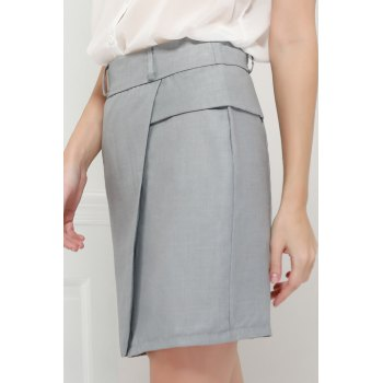Graceful OL Style Women's Pencil Skirt(With Belt) - M M