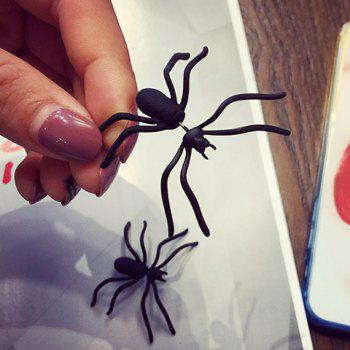 ONE PIECE Charateristic Spider Shape Earring for Ladies - BLACK