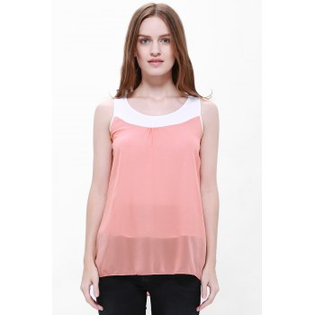 Women's Loose-Fitting Scoop Neck Sleeveless Chiffon Blouse