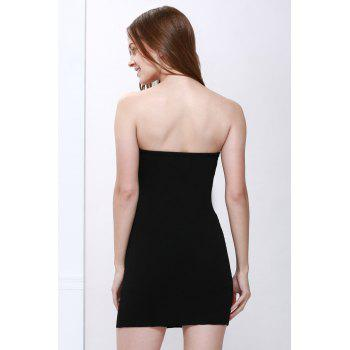 Mini Strapless Color Block Tight Club Dress - ONE SIZE ONE SIZE