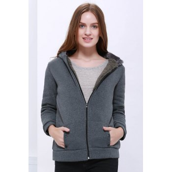 Fashion Casual Women's Thicken Hoodie Coat Outerwear Jacket