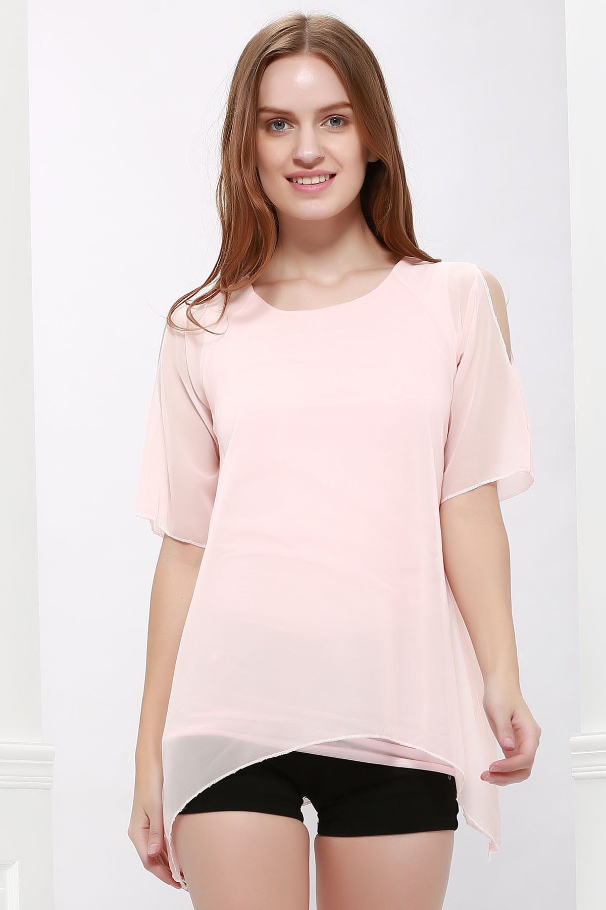 Fairy Style Flowing Texture Chiffon Women's Blouse