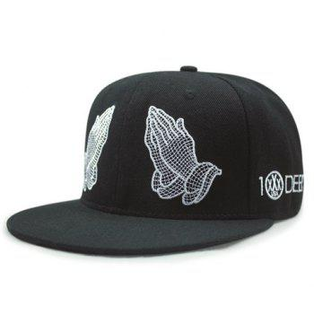 Stylish Praying Hands Embroidery Men's Baseball Cap