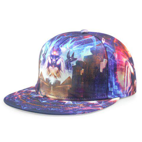 Stylish Weird Animal and Light Ray 3D Print Men's Baseball Cap - DEEP PURPLE