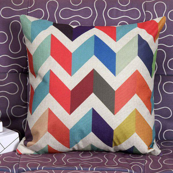 High Quality Colorful Stripe Pattern Square Shape Synthesis of Linen Pillow Case(Without Pillow Inner) - COLORMIX