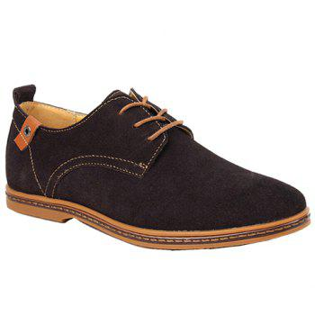 Simple Suede and Lace-Up Design Men's Casual Shoes