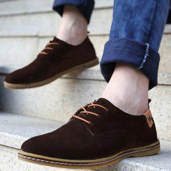 Simple Suede and Lace-Up Design Men's Casual Shoes - 40 40
