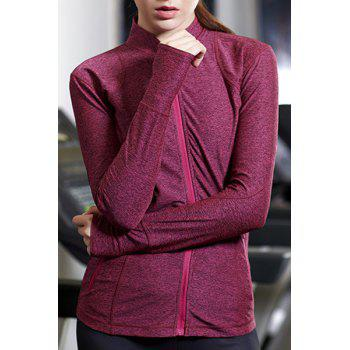 Active Stand-Up Collar Long Sleeve Zip Up Flex Women's Coat