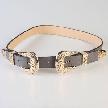 Chic Hollow Out Plant Shape Buckle Women's Wide Belt