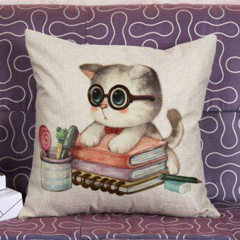 High Quality Lovely Kitten Pattern Square Shape Pillow Case(Without Pillow Inner)