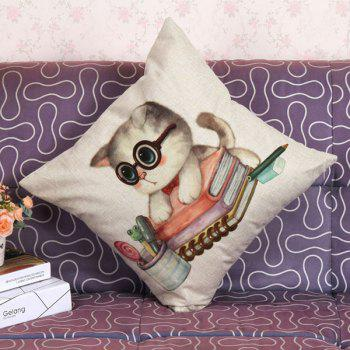 High Quality Lovely Kitten Pattern Square Shape Pillow Case(Without Pillow Inner) - COLORMIX