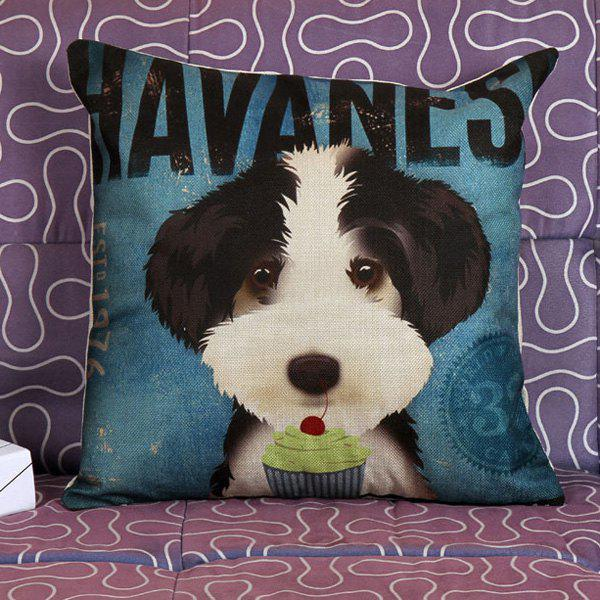 High Quality Puppy Printed Square Shape Pillow Case(Without Pillow Inner) - COLORMIX