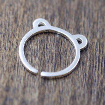 Chic Solid Color Bear Ears Cuff Ring For Women
