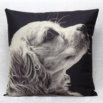High Quality 3D Puppy Pattern Square Shape Synthesis of Linen Pillow Case(Without Pillow Inner)