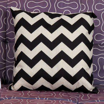 High Quality Stripe Pattern Square Shape Synthesis of Linen Pillow Case(Without Pillow Inner)