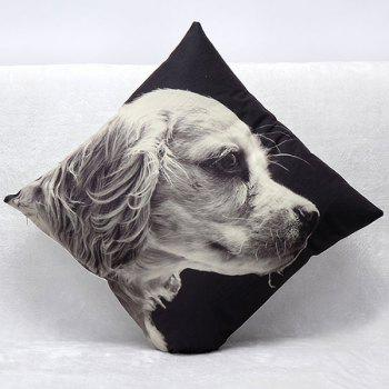 High Quality 3D Puppy Pattern Square Shape Synthesis of Linen Pillow Case(Without Pillow Inner) - COLORMIX