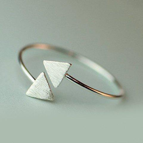 Graceful Solid Color Triangle Cuff Ring For Women