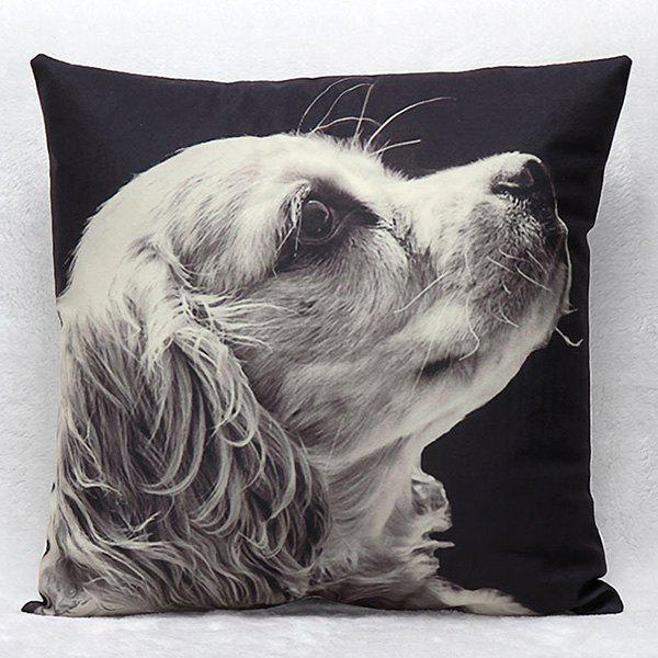 High Quality 3D Puppy Pattern Square Shape Synthesis of Linen Pillow Case(Without Pillow Inner) тарелка обеденная smeraldo festival d27 см