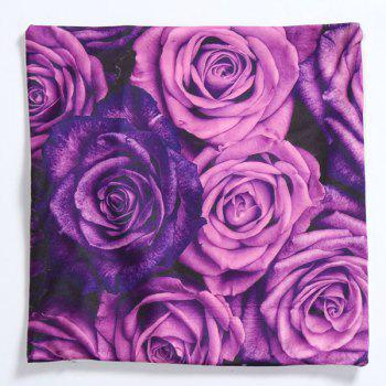 High Quality 3D Violet Pattern Square Shape Pillow Case(Without Pillow Inner) - PURPLE