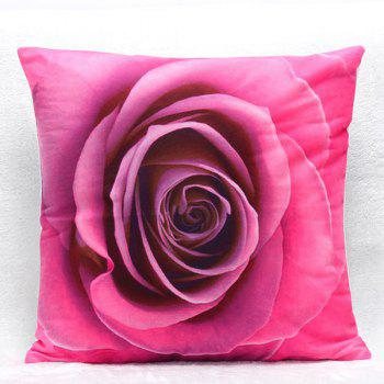 High Quality 3D Rose Pattern Square Shape Pillow Case(Without Pillow Inner)