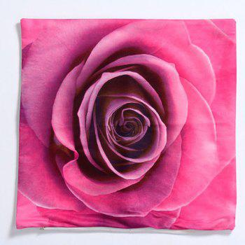 High Quality 3D Rose Pattern Square Shape Pillow Case(Without Pillow Inner) - ROSE