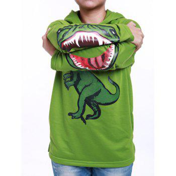 Fashionable Long Sleeve Dinosaur Print Boy's Hoodie