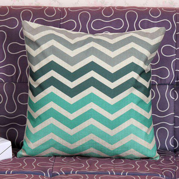 High Quality Wave Stripe Pattern Square Shape Pillow Case(Without Pillow Inner) - COLORMIX