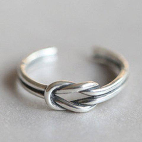 Twisted Cuff Ring - SILVER ONE-SIZE