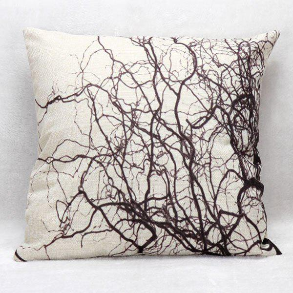 High Quality Branch Pattern Square Shape Pillow Case(Without Pillow Inner) chic creative bird and branch pattern pillow case without pillow inner