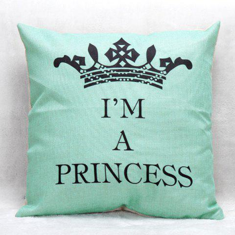 High Quality Crown Printed Pattern Square Shape Pillow Case(Without Pillow Inner) - COLORMIX