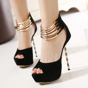 Sexy Peep Toe and Super High Heels Design Pumps For Women - 40 40