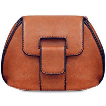 Stylish PU Leather and Solid Colour Design Women's Crossbody Bag