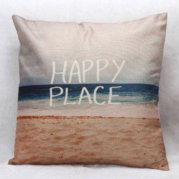 High Quality Beach Pattern Square Shape Pillow Case(Without Pillow Inner)