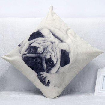 High Quality Lovely Dog Pattern Square Shape Pillow Case(Without Pillow Inner) - COLORMIX