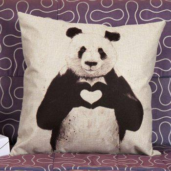 High Quality Panda Pattern Square Shape Pillow Case(Without Pillow Inner)