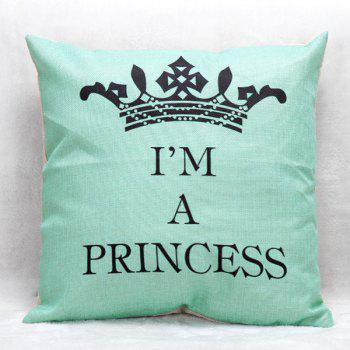 High Quality Crown Printed Pattern Square Shape Pillow Case(Without Pillow Inner)