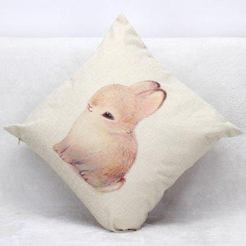High Quality Bunny Printed Pattern Square Shape Pillow Case(Without Pillow Inner) - COLORMIX