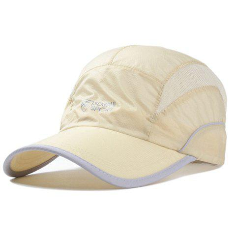 Stylish Letter Pattern Men and Women's Mountaineering Baseball Cap - BEIGE