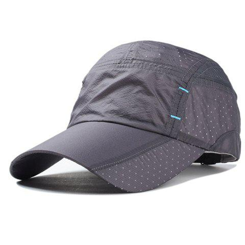 Stylish Breathable Mesh Splicing Men's Mountaineering Baseball Cap - DEEP GRAY