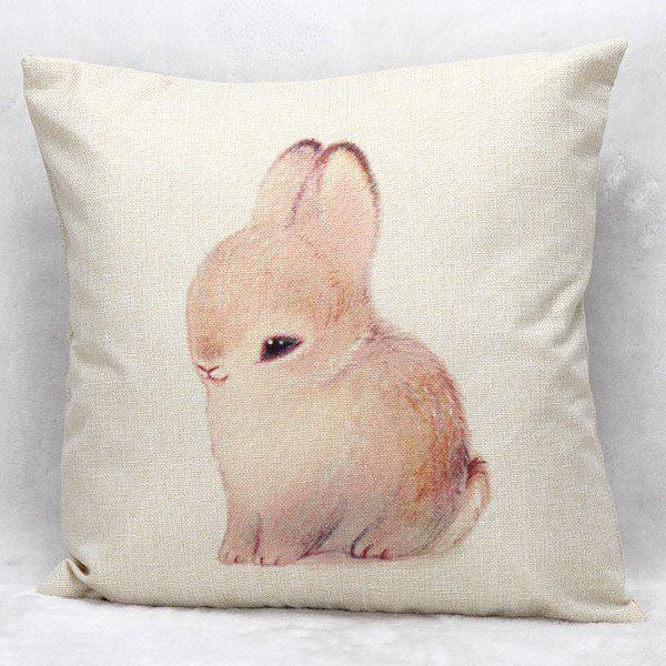 High Quality Bunny Printed Pattern Square Shape Pillow Case(Without Pillow Inner)
