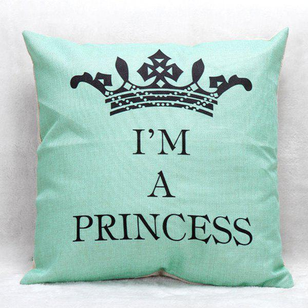 High Quality Crown Printed Pattern Square Shape Pillow Case(Without Pillow Inner) handpainted pineapple and fern printed pillow case