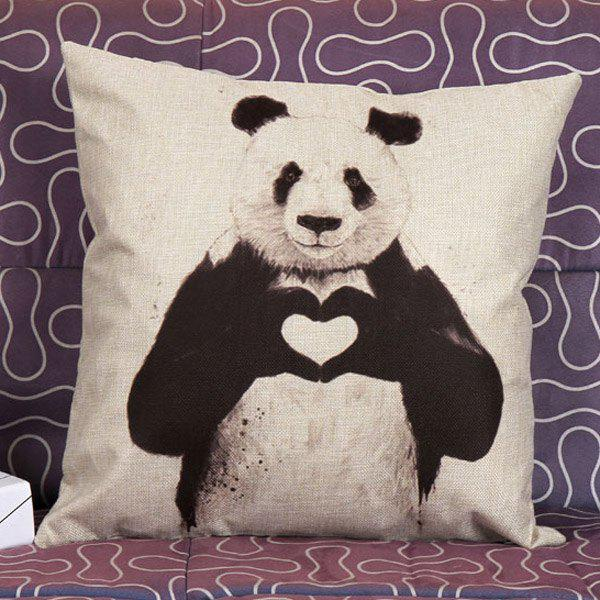 High Quality Panda Pattern Square Shape Pillow Case(Without Pillow Inner) - WHITE/BLACK