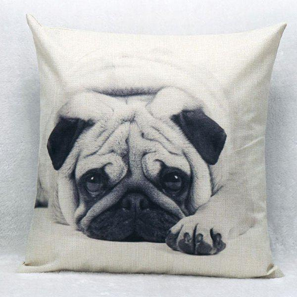 High Quality Lovely Dog Pattern Square Shape Pillow Case(Without Pillow Inner)