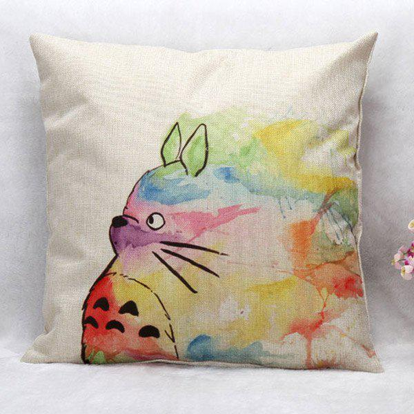 High Quality Colorful Cartoon Totoro Pattern Square Shape Pillow Case(Without Pillow Inner)
