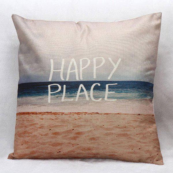 High Quality Beach Pattern Square Shape Pillow Case(Without Pillow Inner) - COLORMIX