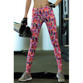 Trendy Elastic Waist Printed High Stretchy Women's Yoga Pants