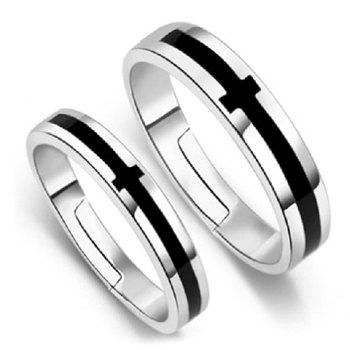 Pair of Punk Style Alloy Cross Ring For Lovers